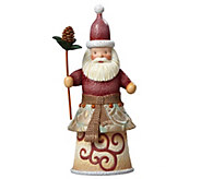 Jim Shore Rivers End Santa with Pinecone Staff - H290226