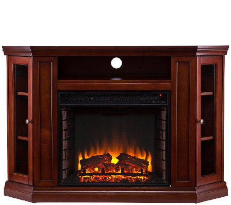 Adrian Convertible Media Electric Fireplace — QVC