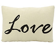 Mina Victory Script Love 12 x 18 Wool/PolyesterPillow - H366926