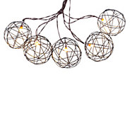 As Is BethlehemLights 7.5 Battery Operated Sphere Light Strand - H204427