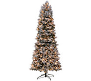 Kringle Express Flocked 9 Winter Slim Christmas Tree - H205627
