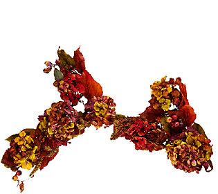 Autumnal 4' Hydrangea Garland with Berries