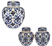 Choice of Illuminated Porcelain Ginger Jar by Valerie - H208627