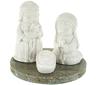 Connemara Marble Ceramic Nativity Scene