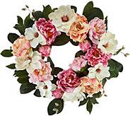 24 Hydrangea, Peony, and Magnolia Wreath by Valerie - H210727