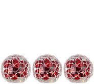 Set of 3 Lit Spun Sugar Ornament Spheres by Valerie - H212427