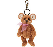 Charlie Bears Collectible Tan 5 Plush Keyring Bear - H212827