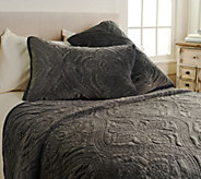 Inspire Me! Home Decor Embroidered Luxe 3-piece Queen Quilt Set - H213027