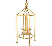 Scott Living 16 Metal Lantern with Hanging FlamelessCandle - H213827