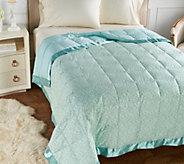 As Is Northern Nights Versailles 500 TC Reversible QN Down Blanket - H215127