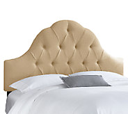 Skyline Furniture Arch Tufted Linen Full Headboard - H283227