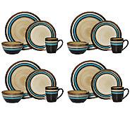 Mikasa Gourmet Basics Spector Blue 16-pc Dinnerware Set - H283927