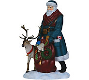 Limited Edition Santa w/ Reindeer Figurine by Pipka - H292927