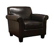 Atticus Black-Brown Faux Leather Modern Club Chair - H349627