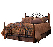 Hillsdale House Madison King Bed - Cherry Finish/Black - H156328