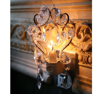 lighting treasures. plain treasures opulent treasur glass accented chandelier night light  page 1 u2014 qvccom intended lighting treasures o