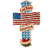 Jim Shore 12 God Bless the USA Hanging Cross - H207128