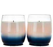 Candle Impressions S/2 Flameless Candles in Ombre Glass - H208128