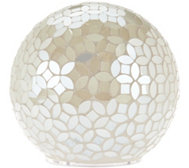 Mosaic Pearl Sphere with Multi-Function Light by Valerie