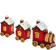 Kringle Express Porcelain Decorative Train Set Luminary - H208828
