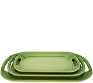 Le Creuset Set of 3 Stoneware Serving Platters - H209528