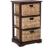 Safavieh Halle 3 Wicker Basket Storage Side Table - H209728