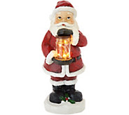 Plow & Hearth Indoor/Outdoor 12 Illuminated Holiday Figurine w/Jar - H211428