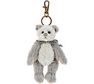 Charlie Bears Collectible Grey 5 Plush Keyring Bear - H212828