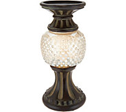 As Is 11 Illuminated Hobnail Glass Pedestals - H215228