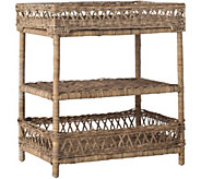Ajani Wicker 3 Tier Accent Table by Valerie - H291028