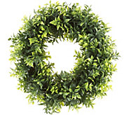 Pure Garden 11-1/2 Opal Basil Leaf Round Wreath - H292128