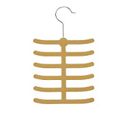 Honey-Can-Do 20-Pack Velvet Touch Tie & Belt Hanger - Camel - H356928