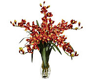 Cymbidium Orchid Flower Arrangement by Nearly Natural - H357328