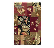 79 x 96 Foliage Panel Wool Handmade Rug - H146529