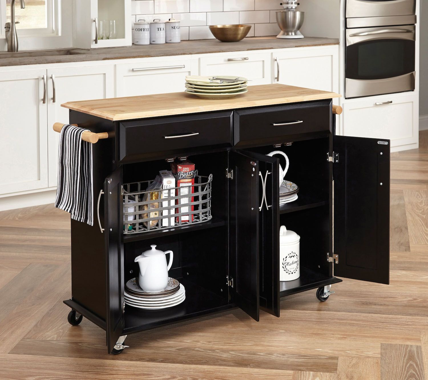 Dolly Madison Kitchen Island Cart   Home Styles Dolly Madison Kitchen Island Cart Page 1 Qvc Com
