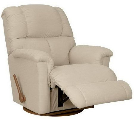 La Z Boy Classic Swivel Micro Denier Fabric Recliner
