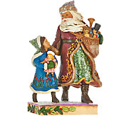 Jim Shore Victorian Collection Santa with Child and Gifts - H206529
