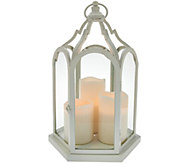 15 Cathedral Lantern with 3 Flameless Candles by Home Reflections - H207629