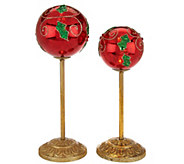 Kringle Express Set of 2 Graduated Illuminated Ornaments - H208929