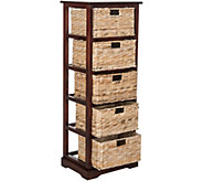 Safavieh Vedette 5 Wicker Basket Storage Tower - H209729