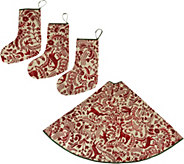 ED On Air Tree Skirt with 3 Matching Stockings by Ellen DeGeneres - H209829