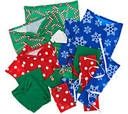 Wrapeez Set of 11 Stretch Fabric Gift Wraps with Gift Tags - H212029