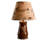 21 Romana Ceramic Lamp with Wine Label Shade by Valerie - H286529