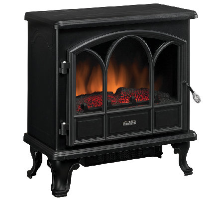 Duraflame Pendleton Electric Stove Fireplace Heater — QVC