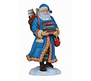 Limited Edition Santa with Books Figurine by Pipka - H292929
