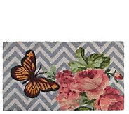 Northlight Multicolor Rose Butterfly Door Mat - H293629