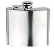 5oz Brushed Stainless Steel Square Flask - H348729