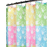 Watershed 2-in-1 World Hands 72x72 Shower Curtain - H349429