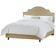 Linda Dano Linen Nail Button Notched Queen Bed - H349929