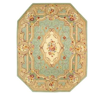 Royal Palace Beveled Edge Savonnerie 8x10 Handmade Wool